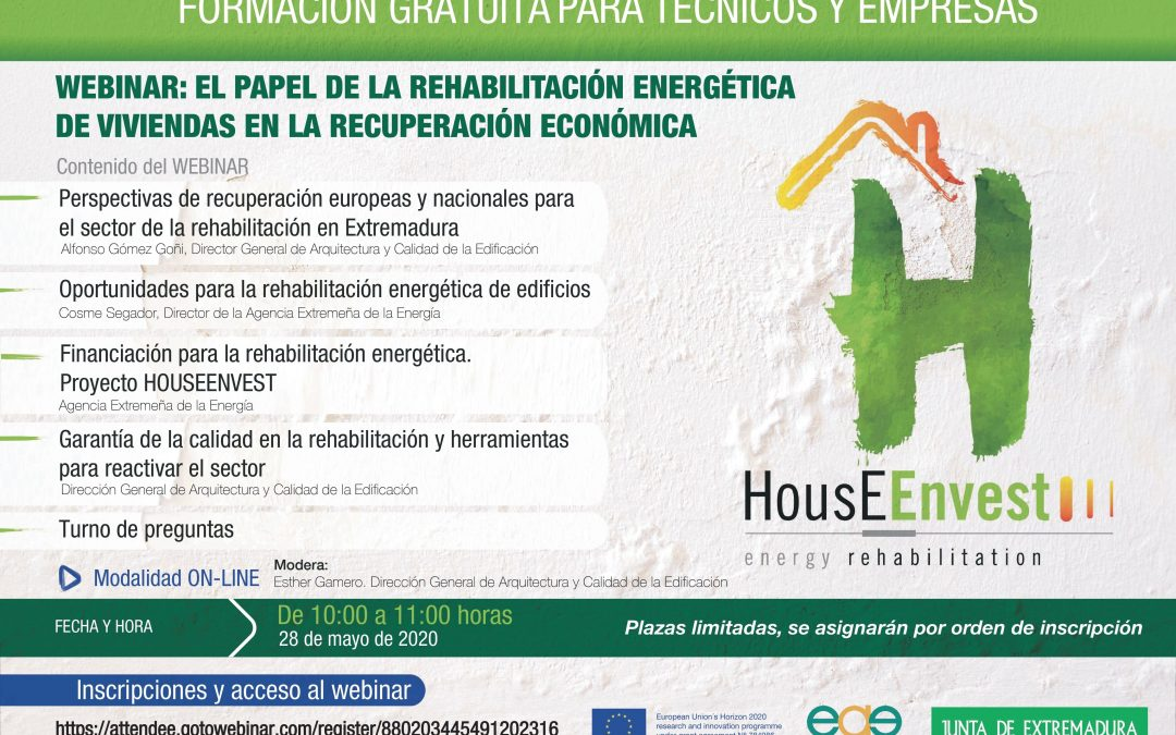 Success of the HousEEnvest webinar on energy rehabilitation